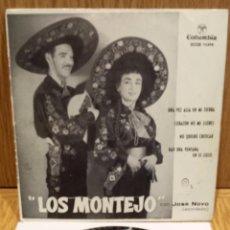 Discos de vinilo: LOS MONTEJO. UNA VEZ ALLÁ EN MI TIERRA. EP / COLUMBIA - 1963 / MBC. ***/***. Lote 57497225