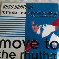 Discos de vinilo: 12 MAXI-BASS BASS BUMPERS-MOVE TO THE RHYTH-THE REMIXES. Lote 57497511