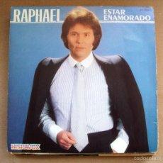 Discos de vinilo: SINGLE VINILO RAPHAEL ESTAR ENAMORADO. Lote 57506540