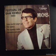 Discos de vinilo: SINGLE VINILO MICHEL SAN REMO 1963. Lote 57506666
