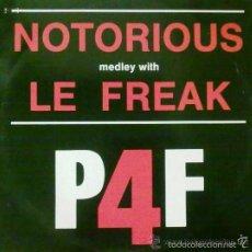 Discos de vinilo: P4F – NOTORIOUS / MISTER X - SINGLE SPAIN 1987 . Lote 57516126