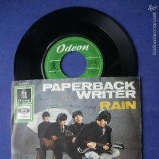 Discos de vinilo: THE BEATLES PAPERBACK WRITER / RAIN SINGLE ALEMANIA 1966 PDELUXE. Lote 57518178