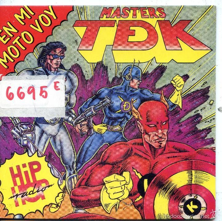 MASTERS TDK / EN MI MOTO VOY / VERSION ANTIGUA (SINGLE 1990) (Música - Discos - Singles Vinilo - Rap / Hip Hop)