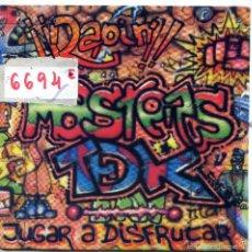 Discos de vinilo: MASTERS TDK / JUGAR A DISFRUTAR (RADIO MIX) / BAJO MIX (SINGLE PROMO 1989). Lote 57523896