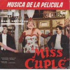 Discos de vinilo: MARY SANTPERE - DE LA PELICULA: MISS CUPLE- KETTY + 3 EP SPAIN 1959 VG++ /VG++. Lote 57527227