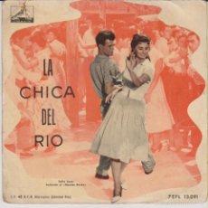 Discos de vinilo: LA CHICA DEL RIO - SOFIA LOREN BAILA EL MAMBO BACAN.(CRISTINA JORIO) EP SPAIN VG+ / VG+. Lote 57527380