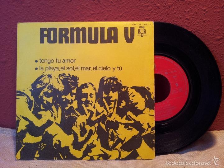 FORMULA V - TENGO TU AMOR-LA PLAYA,EL SOL,EL MAR...-SINGLE 1970 PROMOCIONAL- (Música - Discos de Vinilo - Maxi Singles - Grupos Españoles de los 70 y 80)