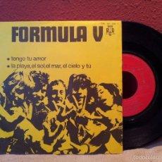 Discos de vinilo: FORMULA V - TENGO TU AMOR-LA PLAYA,EL SOL,EL MAR...-SINGLE 1970 PROMOCIONAL-. Lote 57534326