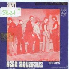 Discos de vinilo: ZEN / CABELLO / ACUARIO (SINGLE 1969). Lote 57538826