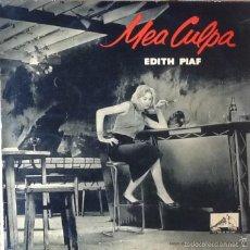 Discos de vinilo: EDITH PIAF : MEA CULPA [ESP 1958] EP 10'. Lote 55180592