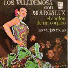 Discos de vinilo: LOS VALLDEMOSA CON MARGALUZ - SINGLE 7 - EDITADO ESPAÑA - EL CORDÓN DE MI CORPIÑO + 1 - PHILIPS 1968. Lote 57546400