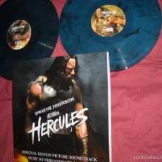 Discos de vinilo: HERCULES - SOUNDTRACK - 2 LPS 180G NUMBERED BLUE/BLACK COLOURED 2 X ENCARTE MUSICA F.VELAZQUEZ. Lote 57547528