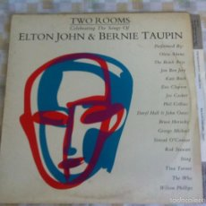 Discos de vinilo: LP DOBLE-ELTON JOHN-TWO ROOMS. Lote 57561340