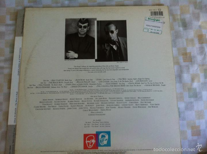 Discos de vinilo: LP DOBLE-ELTON JOHN-TWO ROOMS - Foto 2 - 57561340