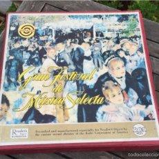 Discos de vinilo: GRAN FESTIVAL DE MUSICA SELECTA RCA DISCOTECA DE SELECCION 12 LP. Lote 57562841