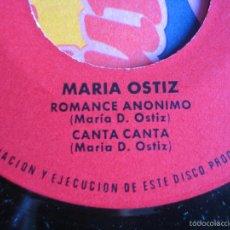 Discos de vinilo: MARIA OSTIZ EP FUNDADOR 1971 N'A VEIRIÑA DO MAR/ MIL ROSAS/ ROMANCE ANONIMO/ CANTA CANTA. Lote 57584138