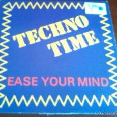 Discos de vinilo: TECHNO TIME - EASE YOUR MIND - MAXI SINGLE.12. Lote 57585167