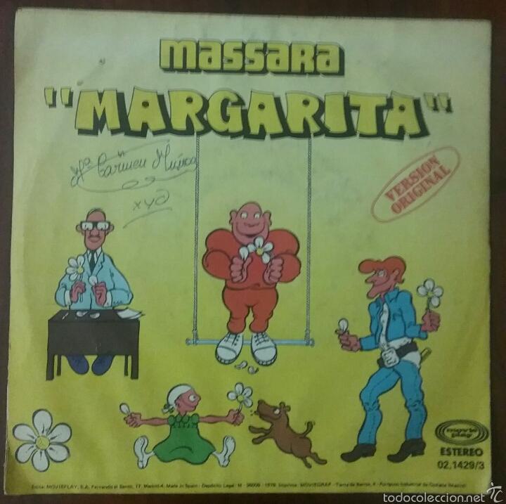 Discos de vinilo: VINILO SINGLE : MASSARA MARGARITA (1979) - Foto 4 - 57606517