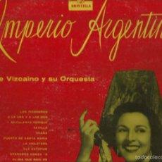 Discos de vinilo: LP IMPERIO ARGENTINA (EDICION MONTILLA, USA ) CON ENRIQUE VIZCAINO Y SU ORQUESTA . Lote 57608437