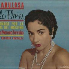 Discos de vinilo: LP LA FABULOSA LOLA FLORES (EDICION USA) GUITARRA: ANTONIO GONZALEZ & ORQUESTA: F. MORENO TORROBA. Lote 57608513