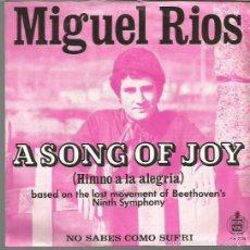 Discos de vinilo: MIGUEL RIOS SINGLE. SELLO HISPAVOX. EDITADO EN HOLANDA. Lote 57610316