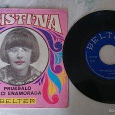 Discos de vinilo: CRISTINA: NACÍ ENAMORADA / PRUEBALO (BELTER 1969). Lote 57615004