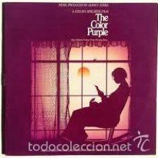 Discos de vinilo: EL COLOR PURPURA - THE COLOR PURPLE - DOBLE LP DE VINILO RARO - USA- QUINCY JONES - ENCARTES. Lote 57627365