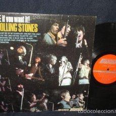 Discos de vinilo: ROLLING STONES / GOT LIVE IF YOU WANT IT 66, RARA EDIT.USA MONO / SATISFACTION, LADY JANE, COLLECTOR. Lote 57629920