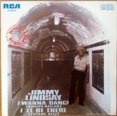 Discos de vinilo: JIMMY LINDSAY : I WANNA DANCE [ESP 1980] 7'. Lote 57630219