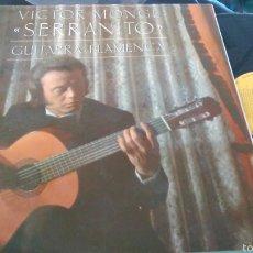 Discos de vinilo: VICTOR MONGE ''SERRANITO'' LP GUITARRA FLAMENCA.1986. Lote 100688244
