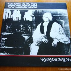Discos de vinilo: WEJAH RENASCENÇA (FAUNUS FLP 004 - BRAZIL 1987) ROCK PROGRESIVO ORIGINAL LP. Lote 57638832