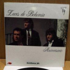 Discos de vinilo: LUCES DE BOHEMIA. ANIVERSARIO. LP / JAZMÍN - 1991 / MBC. ***/***. Lote 57645022