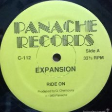 Discos de vinilo: EXPANSION-RIDE ON, PANACHE RECORDS-C-112. Lote 57654291