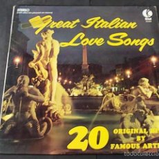 Discos de vinilo: GREAT ITALIAN LOVE SONGS. Lote 57660643