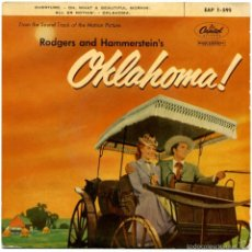 Discos de vinilo: RODGERS AND HAMMERSTEIN'S – OKLAHOMA! - EP SPAIN 1959 - CAPITOL EAP 1-595. Lote 57669872
