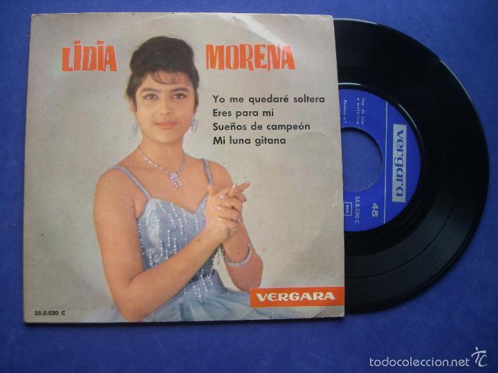 LIDIA MORENA - YO NO ME QUEDARE SOLTERA - SUEÑOS DE CAMPEON + 2 - EP SPAIN 1962 PEPETO (Música - Discos de Vinilo - EPs - Solistas Españoles de los 50 y 60)