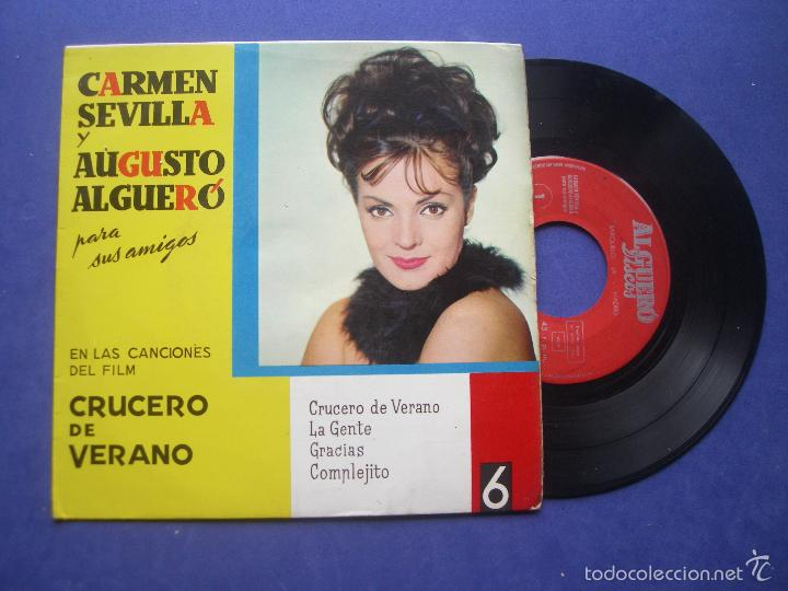 CARMEN SEVILLA Y AUGUSTO ALGUERO - CRUCERO DE VERANO / / GRACIAS / COMPLEJITO (EP 1963) PEPETO (Música - Discos de Vinilo - EPs - Solistas Españoles de los 50 y 60)