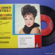Discos de vinilo: CARMEN SEVILLA Y AUGUSTO ALGUERO - CRUCERO DE VERANO / / GRACIAS / COMPLEJITO (EP 1963) PEPETO. Lote 57672030