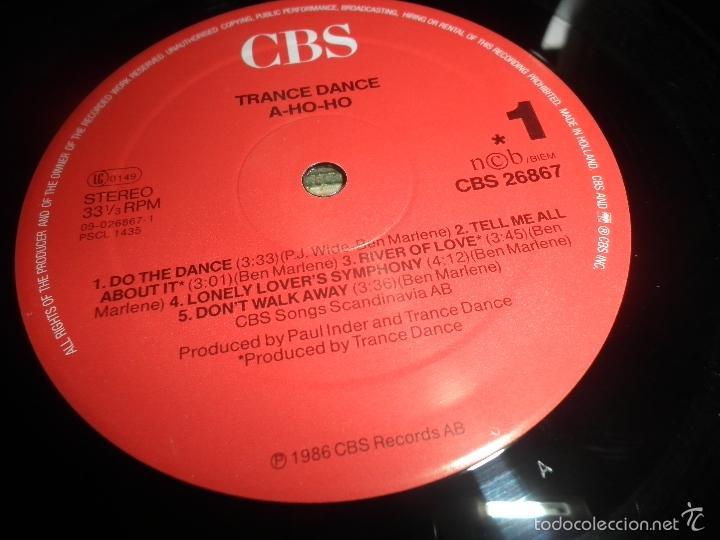Discos de vinilo: TRANCE DANCE - A HO HO LP - ORIGINAL HOLANDES - CBS 1986 CON FUNDA INT. ORIGINAL - MUY NUEVO(5) - Foto 12 - 57676527