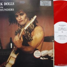 Discos de vinilo: NEW YORK DOLLS FEATURING JOHNNY THUNDERS- PERSONALITY CRISIS- HOLLAND MAXI 1986- RED VINYL LIM. EDIT. Lote 57677567