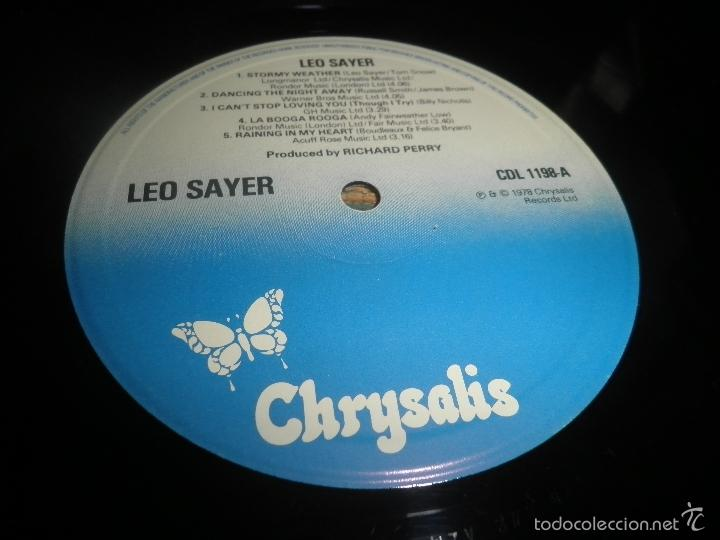 Discos de vinilo: LEO SAYER - THE VERY BEST OF LP - ORIGINAL INGLES - CHYSALIS RECORDS 1979 CON FUNDA INT. ORIGINAL - Foto 13 - 57677676