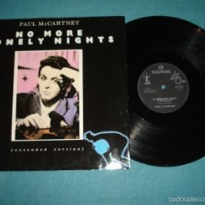 Discos de vinilo: BEATLES, PAUL MCCARTNEY - NO MORE LONELY NIGHTS, RARO MAXI 3 TEMAS, LIMT EDIT UK, EXC. Lote 57684267