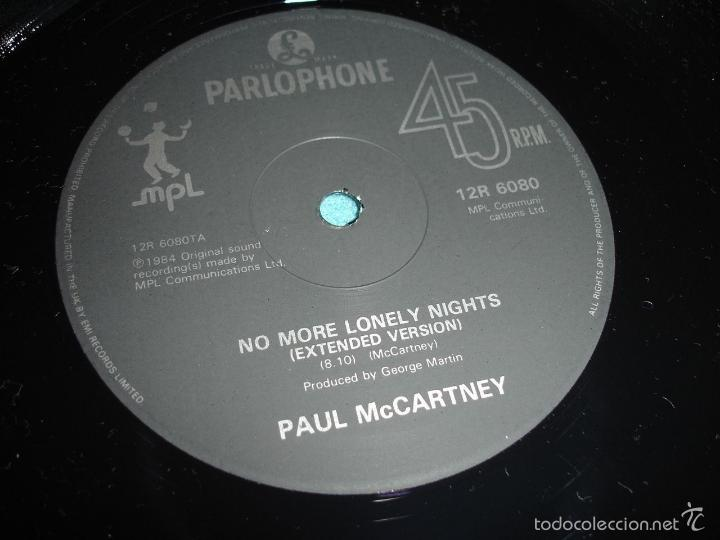 Discos de vinilo: BEATLES, PAUL MCCARTNEY - NO MORE LONELY NIGHTS, RARO MAXI 3 TEMAS, LIMT EDIT UK, EXC - Foto 2 - 57684267