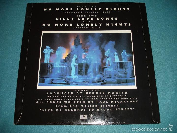Discos de vinilo: BEATLES, PAUL MCCARTNEY - NO MORE LONELY NIGHTS, RARO MAXI 3 TEMAS, LIMT EDIT UK, EXC - Foto 4 - 57684267