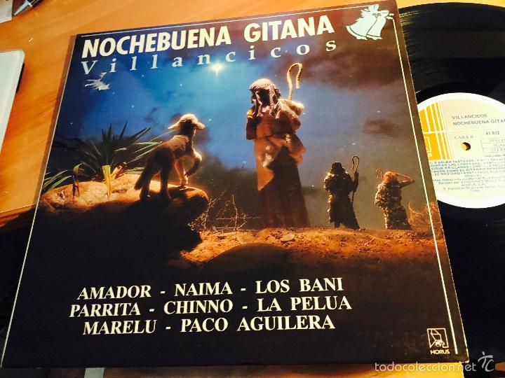 NOCHEBUENA GITANA VILLANCICOS (AMADOR, PARRITA, PELUA, MARELU) LP ESPAÑA 1990 (VINC) (Música - Discos - LP Vinilo - Flamenco, Canción española y Cuplé)