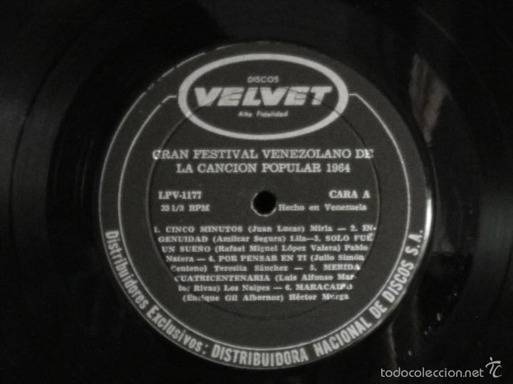 Discos de vinilo: Gran Festival Venezolano de la Canción Popular 1964 - Foto 3 - 57692967