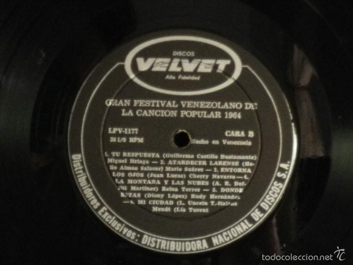 Discos de vinilo: Gran Festival Venezolano de la Canción Popular 1964 - Foto 4 - 57692967
