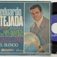 Discos de vinilo: EDUARDO TEJADA ( BEATLES ) YESTERDAY / EP 45 RPM / EDITADO DISCOPHON 1965. Lote 57701242