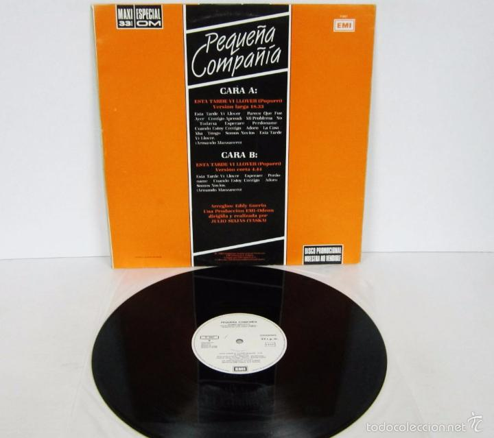 Discos de vinilo: PEQUEÑA COMPAÑIA - ESTA TARDE VI LLOVER - MAXI ESPECIAL 33 RPM - EMI 1985- PROMO RARE VINILO MINT - Foto 3 - 57707787