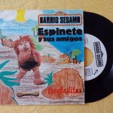 Discos de vinilo: ESPINETE Y SUS AMIGOS, TROGLODITAS (DRO 1985) SINGLE PROMOCIONAL - BARRIO SESAMO. Lote 57708876
